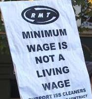 minimum not living wage logo